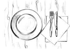 cutlery ilustração stock