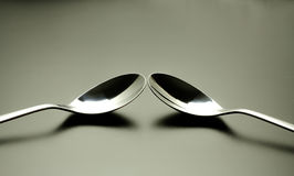 Cutlery as fine art with beautiful light Stock Images