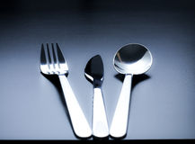 Cutlery as fine art with beautiful light Royalty Free Stock Images