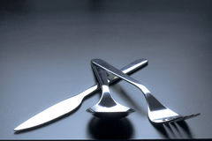 Cutlery as fine art with beautiful light Stock Image