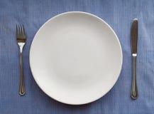 cutlery błękitny set Obrazy Royalty Free
