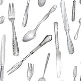 Cutlery background Royalty Free Stock Image