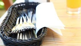 Cutlery basket Royalty Free Stock Image