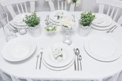 Cutlery. A beauty cutlery on the table stock photography