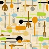 Cutlery bezszwowy deseniowy tło.  royalty ilustracja