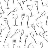 Cutlery bezszwowy wzór Fotografia Stock