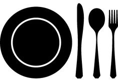 Cutlery black Stock Images