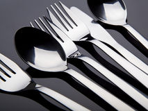 Cutlery on black background Stock Images