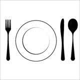 Cutlery black Royalty Free Stock Photography