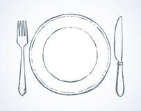 cutlery Blumenhintergrund mit Gras lizenzfreie abbildung