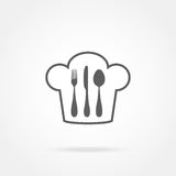Cutlery and chef hat Royalty Free Stock Photos