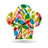Cutlery chef hat illustration Stock Photos
