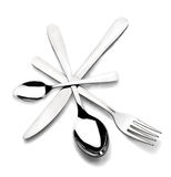 Cutlery in a circle Royalty Free Stock Photo