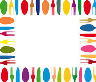 Cutlery color background menu Stock Images