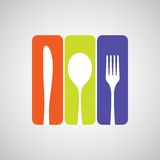 Cutlery color Stock Photo