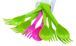 Cutlery colorful. Stock Photography