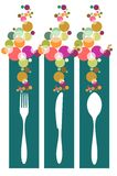 Cutlery contemporary pattern illustration Stock Photography