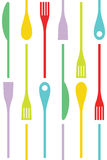 Cutlery and cooking icons Royalty Free Stock Photo