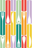 Cutlery and cooking icons Stock Photography