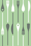 Cutlery and cooking icons vector seamless Stock Image
