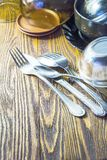 Cutlery and crockery Stock Image
