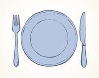 cutlery Desenho do vetor ilustração do vetor