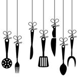 Cutlery design Royalty Free Stock Photography
