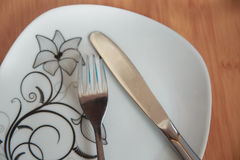 Cutlery after dinner Stock Photography