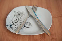 Cutlery after dinner Royalty Free Stock Images