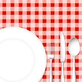 Cutlery with Dish Stock Image