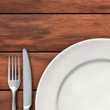 Cutlery and dish Royalty Free Stock Photos