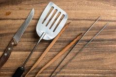 Cutlery dla grilla Zdjęcie Stock