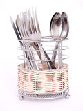Cutlery drainer. Photography on a white background Royalty Free Stock Image
