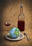 Cutlery&Earth Stock Image