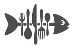 Cutlery fish. On a white background Stock Images