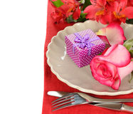 Cutlery and flowers Stock Photography