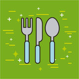 Cutlery food illustration Royalty Free Stock Photo