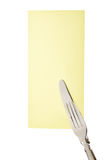 Cutlery fork and knife Stock Image