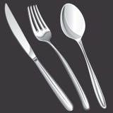 Cutlery fork, spoon, knife Stock Photos