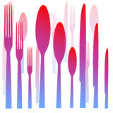 Cutlery fork spoon knife Stock Photography