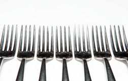 Cutlery, forks, knives Royalty Free Stock Images