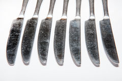 Cutlery, forks, knives Stock Photography