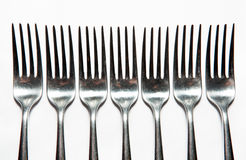 Cutlery, forks, knives Stock Photo
