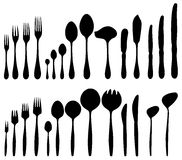 Cutlery - forks, spoons, knives. Royalty Free Stock Photo