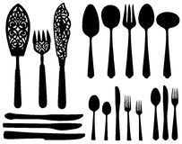 Cutlery - forks, spoons, knives. Stock Photo