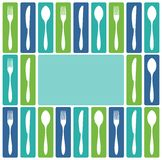 Cutlery frame Stock Photo