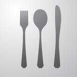 Cutlery gray Stock Image