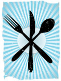 Cutlery Grunge Vector Background Stock Image