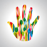 Cutlery hand shape illustration Stock Photo