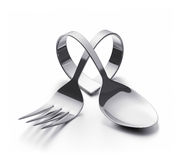 Cutlery  heart Stock Image